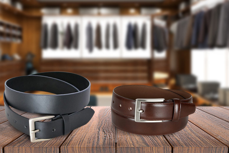 £3.99 instead of £14.99 (from Fakurma) for a men\'s faux leather belt in black or brown - save a strapping 73%