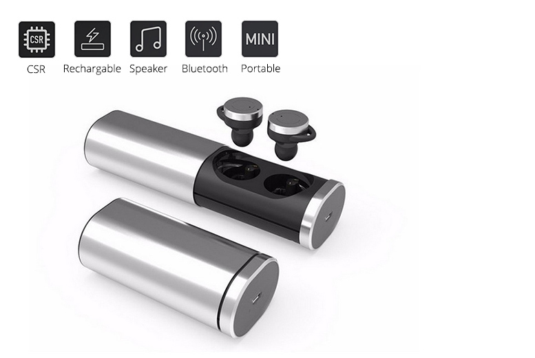 Metallic Wireless Earbuds – 3 Colours! from £38