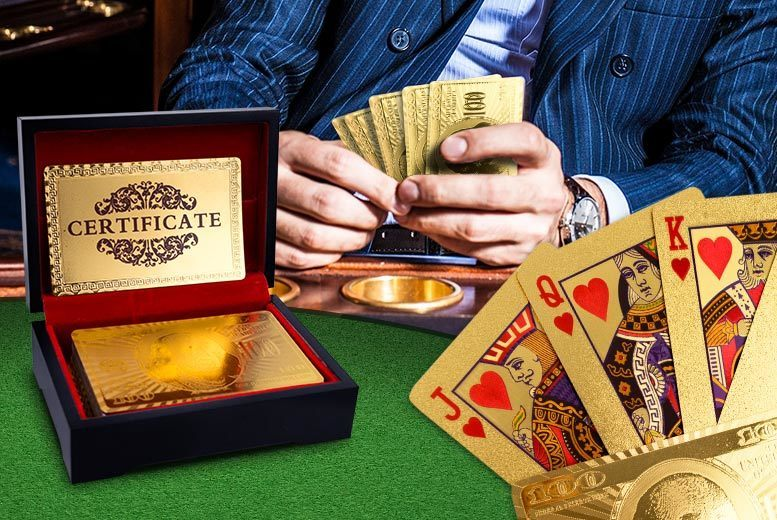 24k Gold-Plated Playing Cards from £9