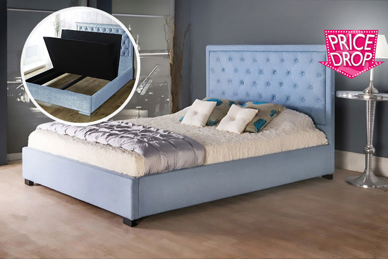 From £119 (from Dining Tables) for a double Fabiano fabric storage bed, £139 for a king bed, £189 for a double plus mattress or £209 for a king plus mattress - save up to 85%
