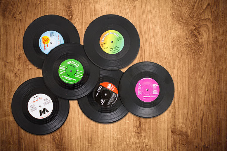 6 Vinyl Record Coasters from £3.98