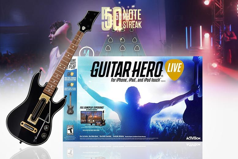 Guitar Hero Live including Guitar for (IOS) iPhone, iPad, Apple TV from £9.99