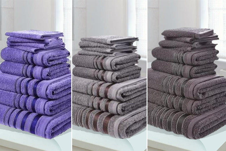 9pc Knightsbridge Egyptian Cotton Towel Set – 6 colours! from £14.99