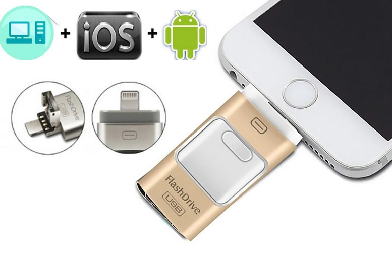 From £12 for a 8GB universal I-Flash Drive, £15 for 16GB, £19 for 32GB, or £24 for 64GB from Toy Meets World Ltd - save up to 60%