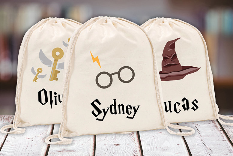 Harry Potter-Inspired Kids' Personalised Drawstring Bag from £3.99