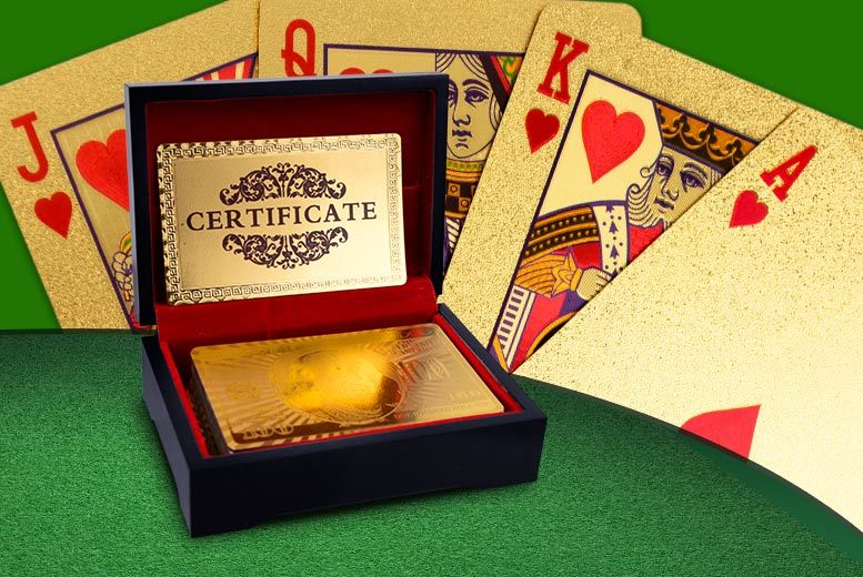 £9 instead of £56 (from Zoozio) for a pack of 24k gold-plated playing cards - go all in and save 84%
