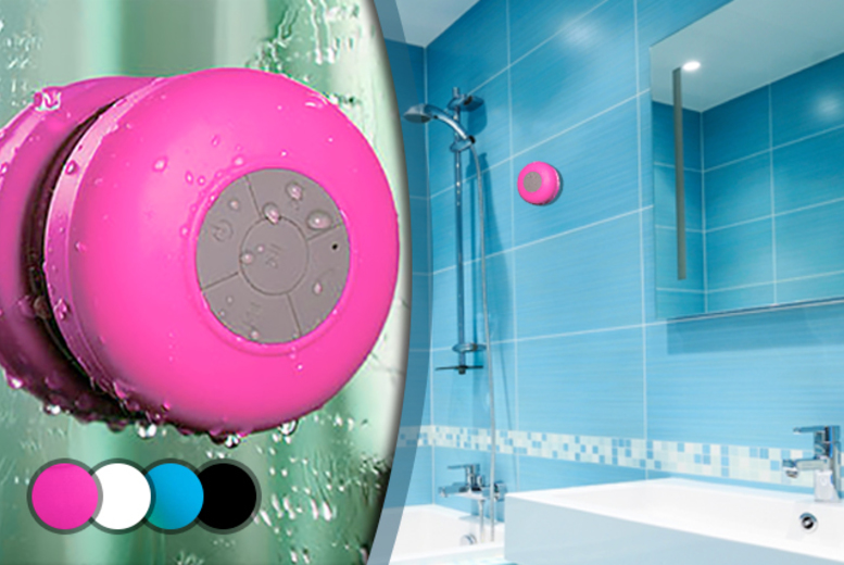 £7.99 instead of £23.99 (from Chimp Electronics) for a Bluetooth shower speaker - choose from four colours and save 67%