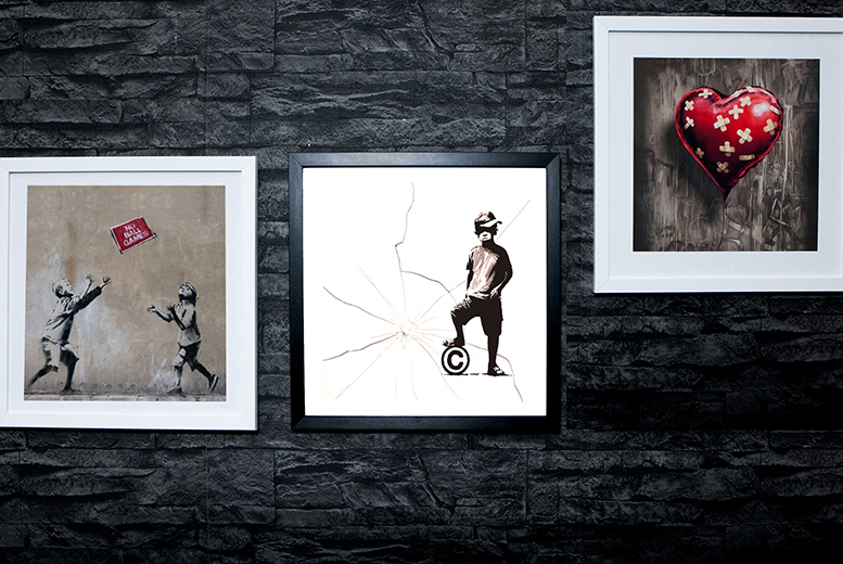£8 instead of £69 (from ARTF.LY) for a framed 25cm x 25cm Banksy print, £14 for a framed 38cm x 38cm Banksy print - choose from 64 designs and save up to 88%
