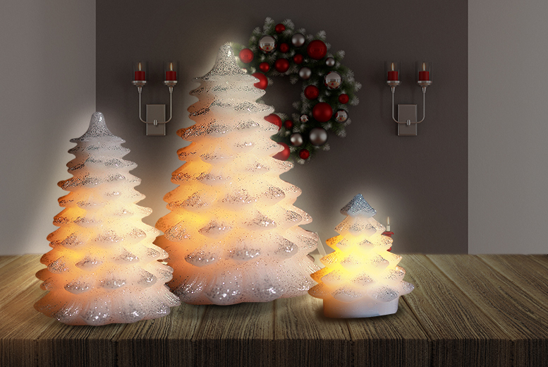 £7.99 instead of £38.99 (from SA Products) for a set of three Christmas tree LED lights - save 80%
