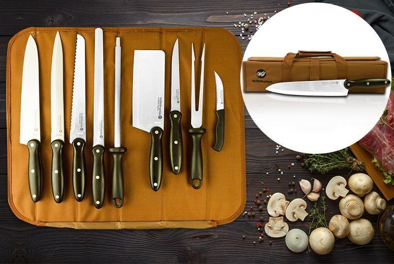 9pc Chef's Culinary Set with Carry Case from £14