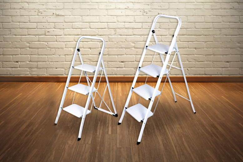 From £15 for a foldable non-slip 3-step ladder or £20 for a 4-step from DIRECT2PUBLIK LTD - save up to 57%