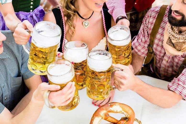 Aberdeen: 2 Oktoberfest Tkts, Beer, Bratwurst Sausage & Fries – 11 Locations! for £8.5