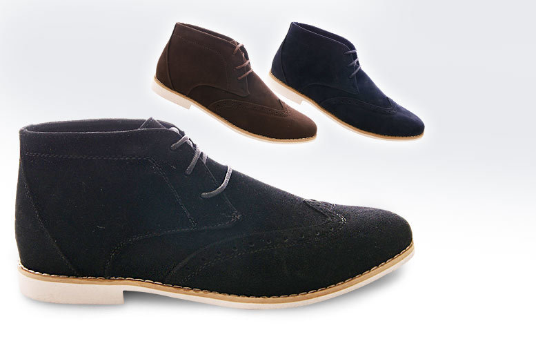 £16 instead of £66 (from Solewish) for a pair of men's faux suede brogues - choose black, brown or grey and save 76%