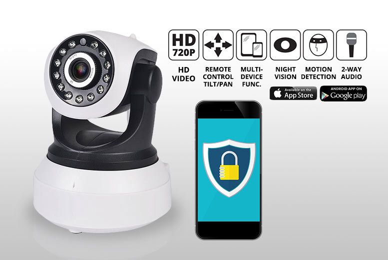 HD Home Security 360° Camera with Motion Detection System! from £22