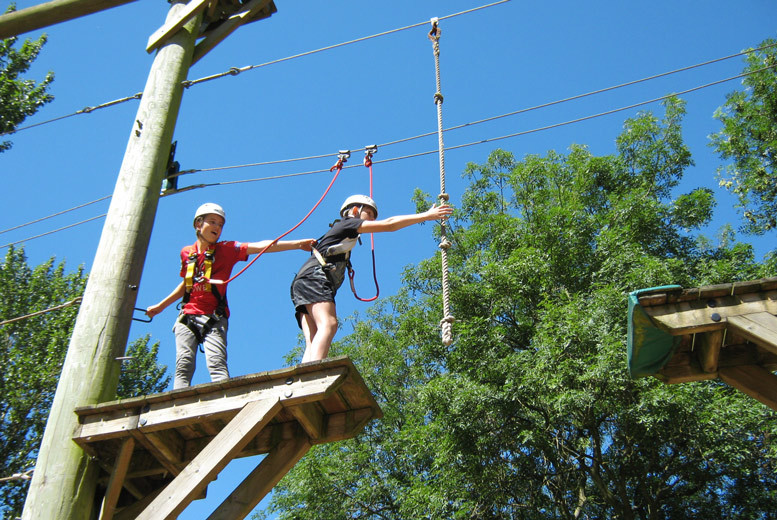 Manchester: Aerial Extreme High Ropes Adventure – 5 Locations! from £15