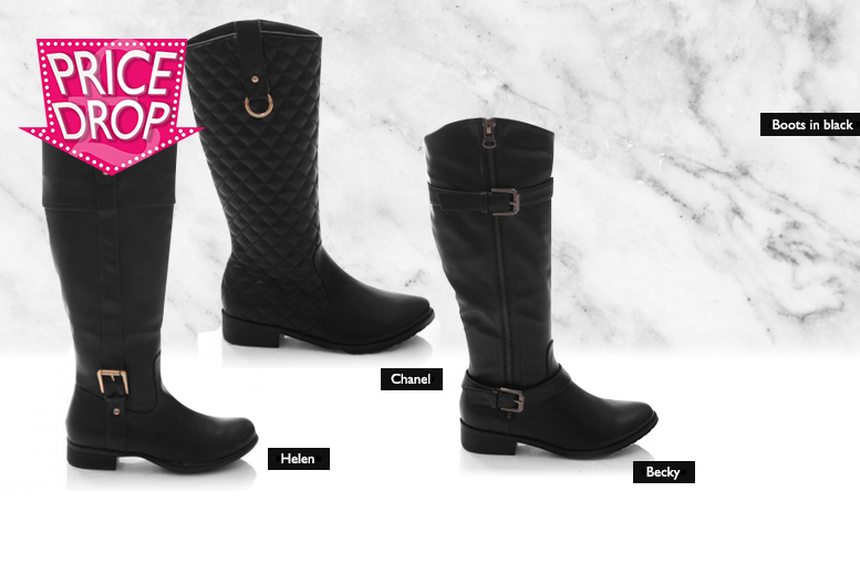 £16 instead of £66 (from Sole Wish) for a pair of faux leather riding boots - choose from three styles and save 76%