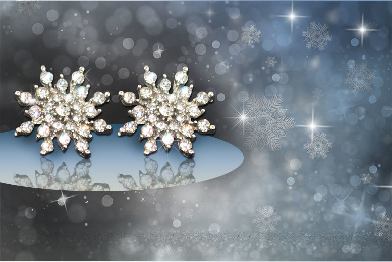 £4 instead of £59 (from Alvi's Fashion) for a pair of snowflake stud earrings made with Swarovski Elements - save a sparkly 93%