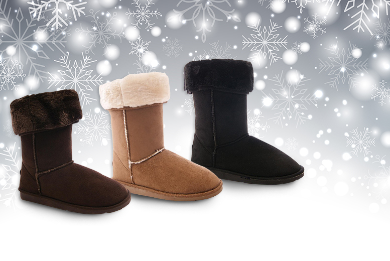 £9.99 instead of £46 (from Sole Wish) for a pair of stylish faux fur lined Snowflake boots - choose from three colours and save 78%