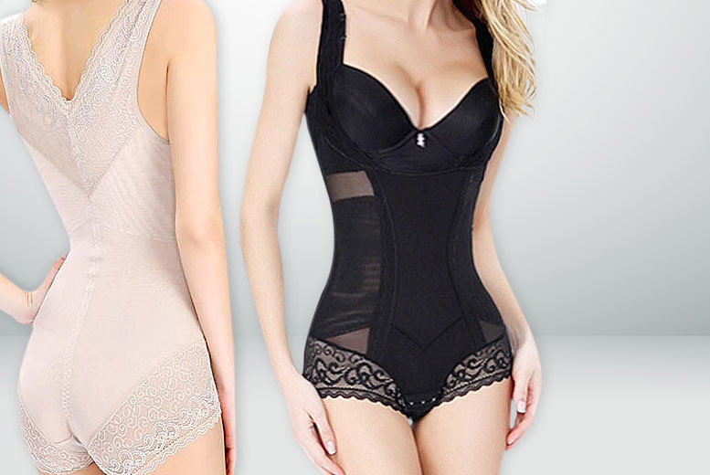 £12 instead of £79 (from Boni Caro) for a spandex \'slimming\' body suit - choose black or nude and save 85%