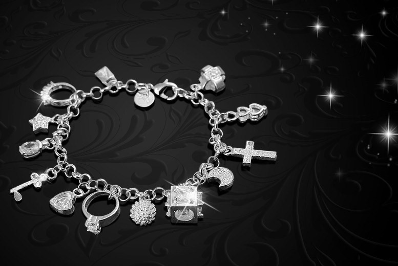 £5 instead of £86 (from Alvi's Fashion) for a crystal charm bracelet - save 94%