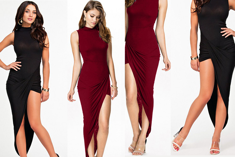 £10 instead of £39.99 (from Who Runs the World) for a statement asymmetric dress - choose from two colours and save 75%