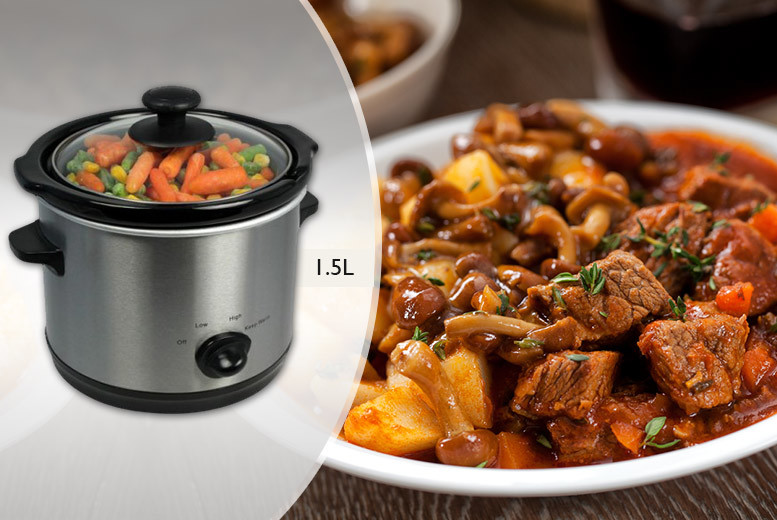 £11.99 instead of £59.99 (from Groundlevel) for a 1.5 litre stainless steel slow cooker, £14.99 for a 3.5 litre cooker or £19.99 for a 5.5 litre cooker - save up to 80%