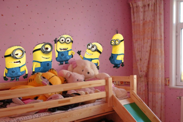 £3.99 instead of £16.99 (from Toy Meets World) for five Despicable Me™ minion wall stickers - save 77%