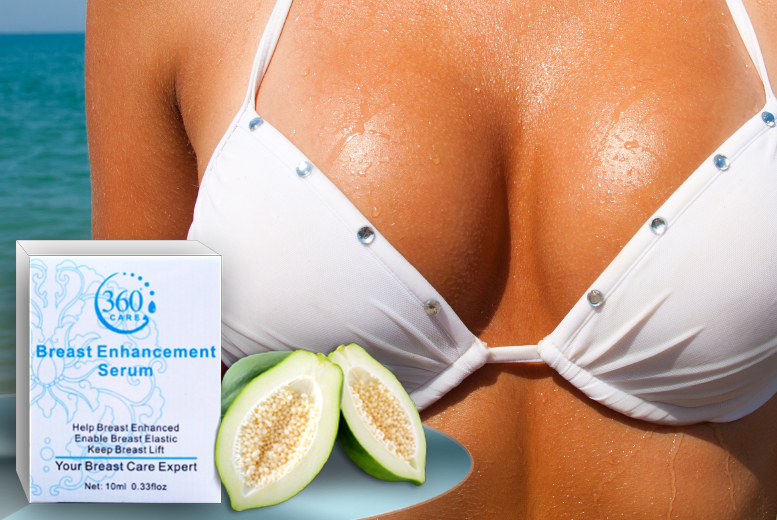 £8 instead of £35 (from Real Protein) for a 10ml bottle of 'breast enhancement' serum, £15 for two bottles - save up to 77%