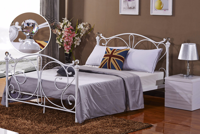 £84 (from Furniture Instore) for a Florence metal small double bed frame, £89 for a double size, £99 for a king size
