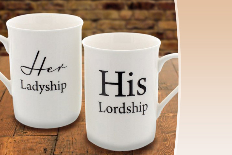 His Lordship' & 'Her Ladyship' Mugs from £6