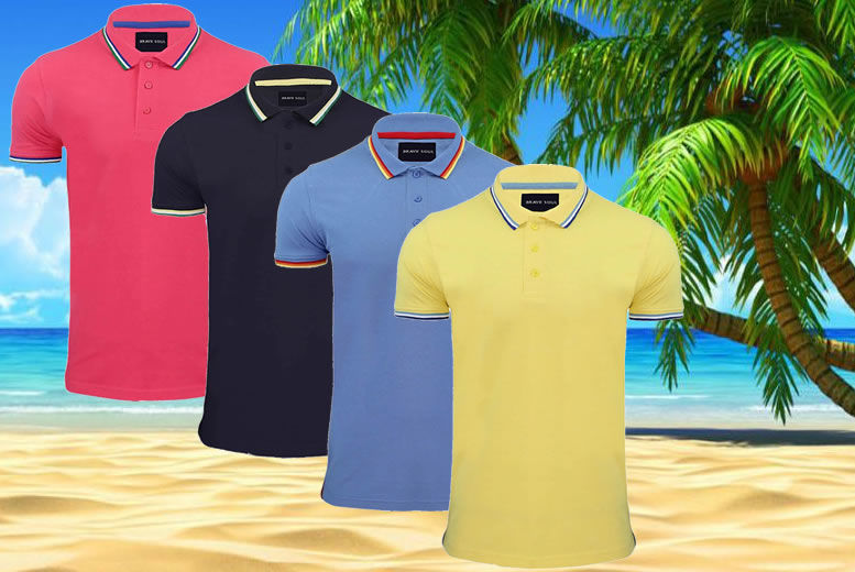 Brave Soul Polo Shirts – 4 Colours! from £6.99