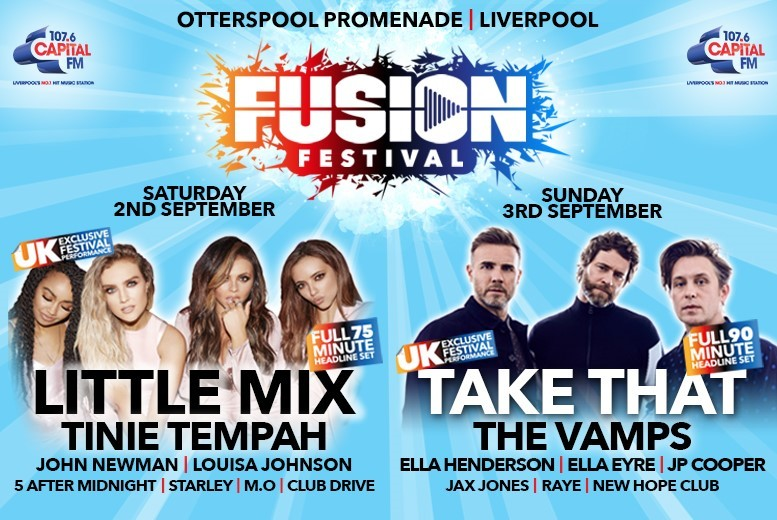 Liverpool: Fusion Festival Tkt – See Little Mix, Take That, The Vamps & More! from £33