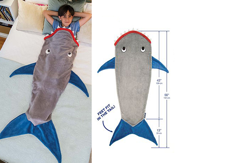 Kids Shark Blanket – 2 Colours! from £9.99