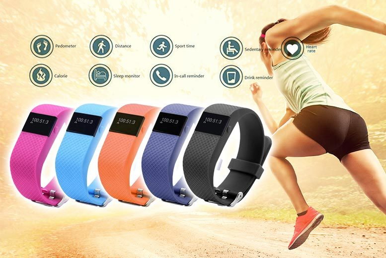 FitTrackPro 2.0 Fitness Tracker Bracelet with Heart Rate Monitor – 5 Colours! from £15.99