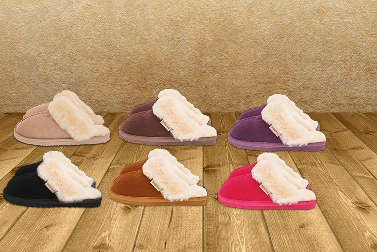 £24 instead of £85.01 for a pair of women\'s sheepskin slippers - choose from six designs and save 72%
