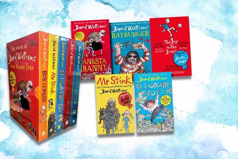 The World of David Walliams Best Boxset Ever – 5 Books! from £15.99