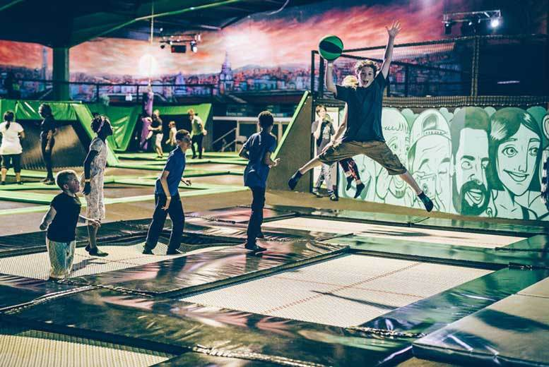 Manchester: 1hr Indoor Trampolining @ Flip Out, Preston from £5