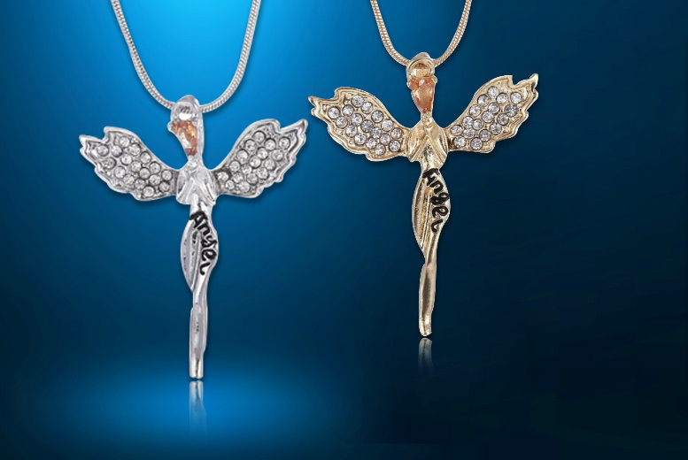 Guardian Angel Necklace Made With Crystal From Swarovski® – 2 Colours! from £8