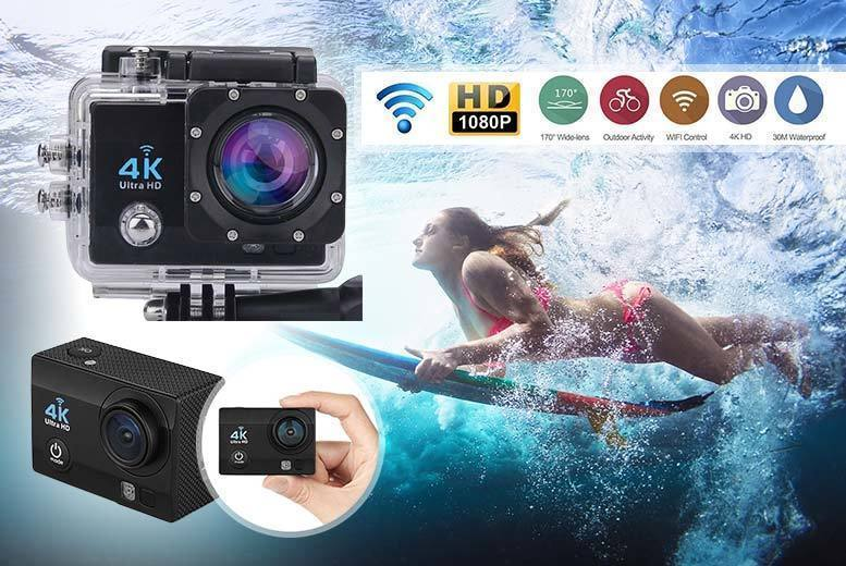 """2"""" 4K HD Sports Action Camera from £34.99"""