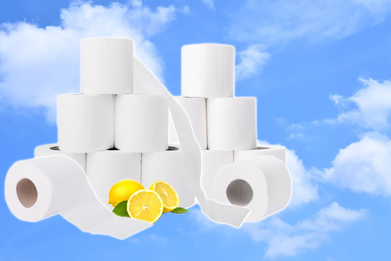 45 Rolls Three-Ply Lemon Scented Toilet Tissue from £9.99