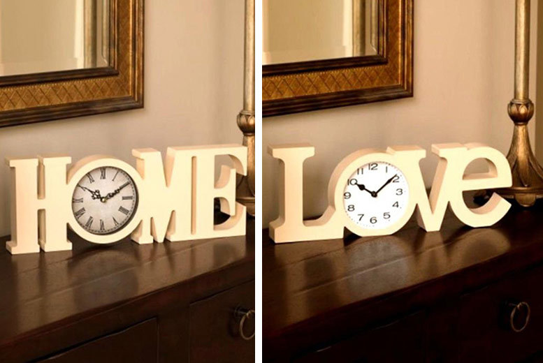 Home or Love Mantel Clock for £6