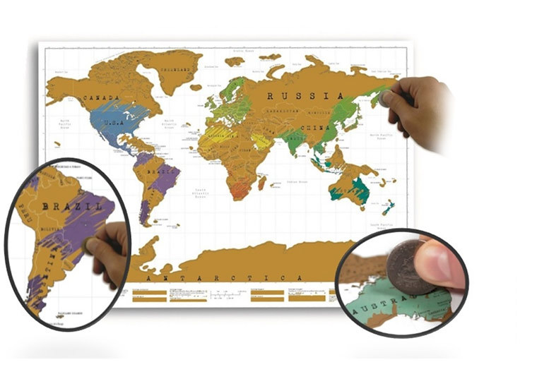 Scratch-off World Map for £5.99