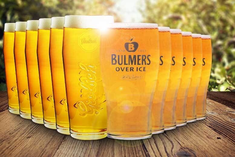 6 or 12pk Grolsch or Bulmers Pint Glasses from £6