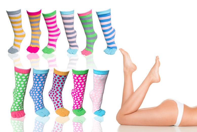 2 Pairs of Ladies Toasty Toe Socks – 2 Designs! for £1.99
