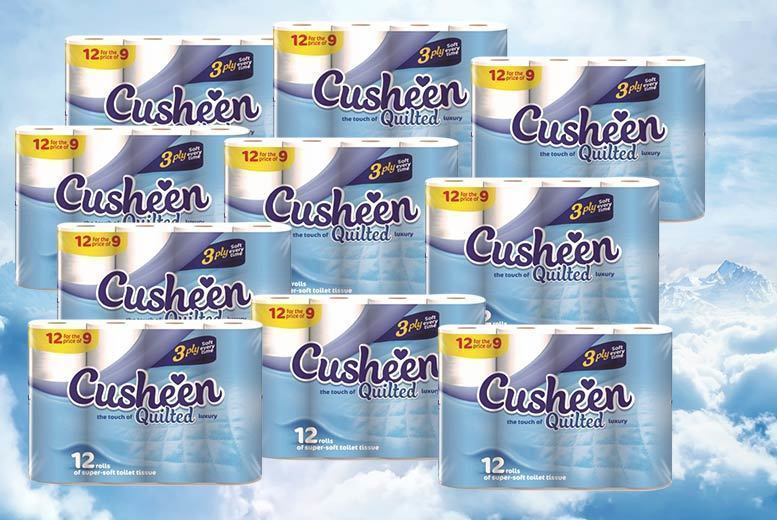 1 Year Supply Cusheen Toilet Roll – 120 Rolls! from £24.99