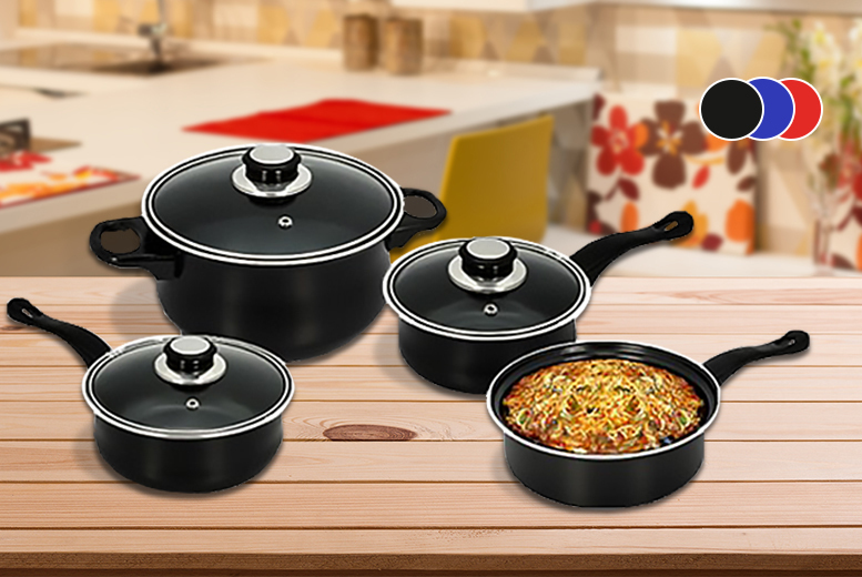 7pc Carbon Steel Pan Set for £9.99