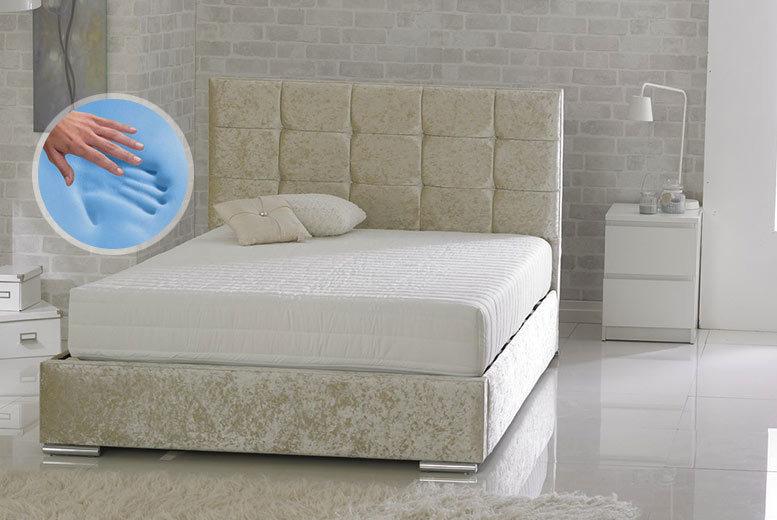 CoolBlue™ Memory Foam Bonnell Sprung Mattress - 4 Sizes!