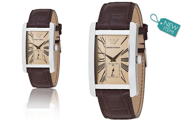 Men's Emporio Armani AR0154 Brown Leather Watch