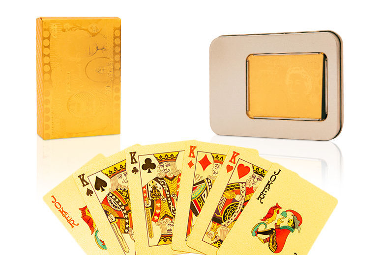 Gold-Plated Playing Cards for £8.99
