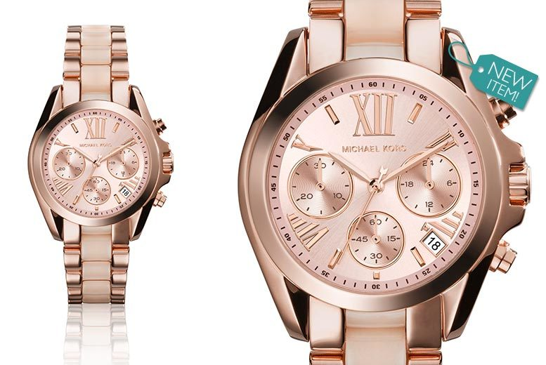 Ladies' Michael Kors MK6066 PVD Rose-Plated Watch